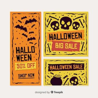 Szablon sieci web banner halloween