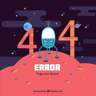 Szablon sieci web błąd 404 z miejsca w stylu płaski