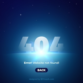 Szablon sieci web błąd 404 z niebieskim światłem