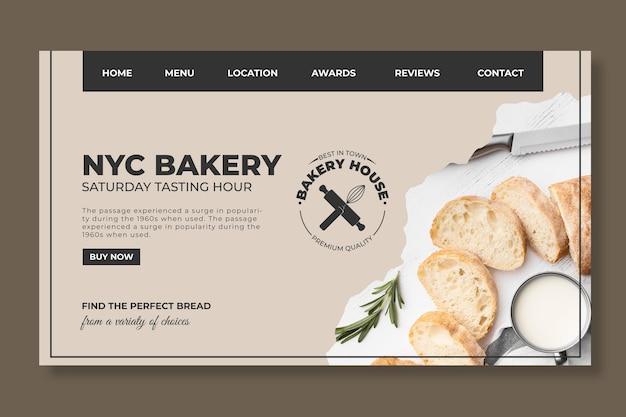Szablon sieci web chleb ze zdjęciem