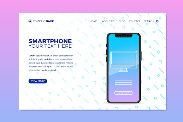 Szablon sieci web dla biznesu z telefonem