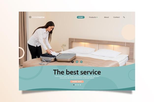 Szablon sieci web hotelu ze zdjęciem