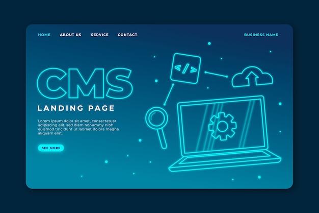 Szablon sieci web koncepcji cms