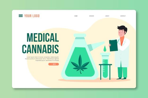 Szablon sieci web korzyści zdrowotnych marihuany medycznej