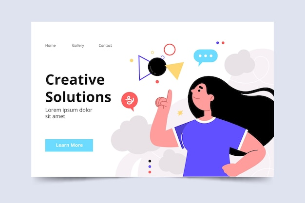 Szablon sieci web kreatywnych rozwiązań