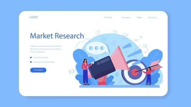 Szablon sieci web lub strona docelowa kursu edukacji marketingowej.