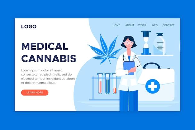 Szablon sieci web marihuany medycznej
