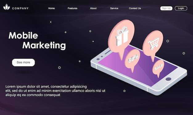 Szablon sieci web marketingu mobilnego