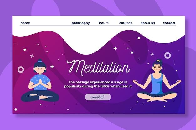 Szablon sieci web medytacji i uważności