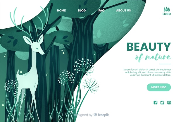 Szablon sieci web piękna przyrody