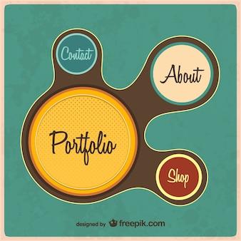 Szablon sieci web retro portfolio