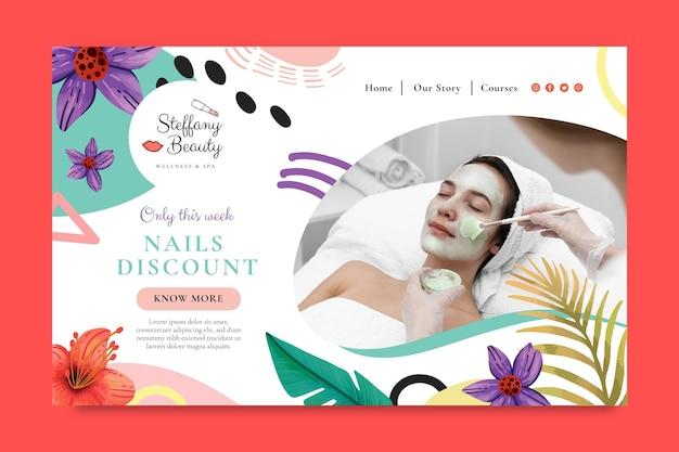 Szablon sieci web salon piękności