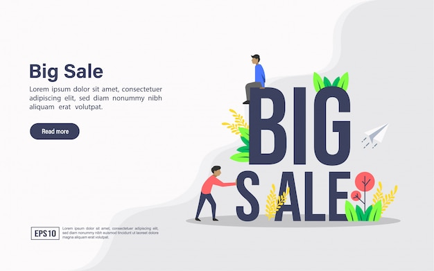 Szablon sieci web strony docelowej dużej sprzedaży