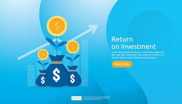 Szablon sieci web zwrotu z inwestycji