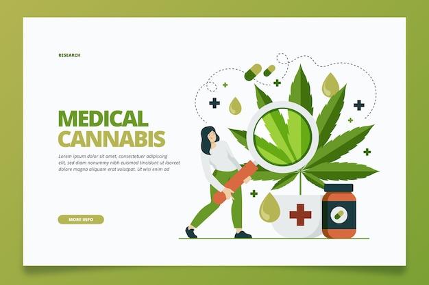 Szablon sieciowy dla medycznej marihuany