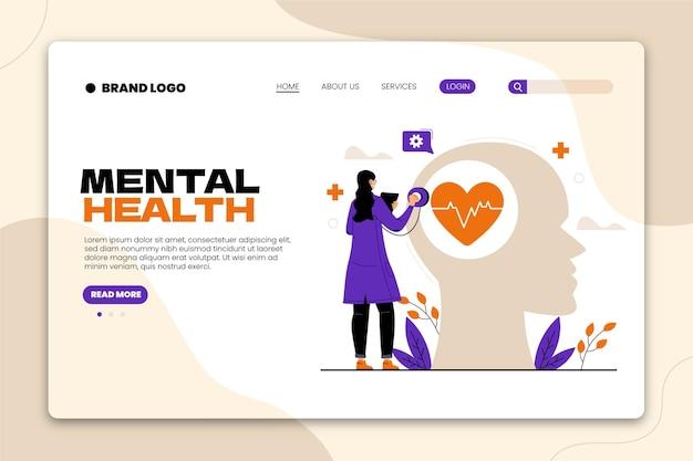 Szablon sieciowy dotyczący zdrowia psychicznego
