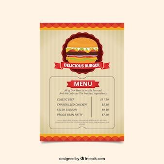Szablon sklepu burger w stylu winnic