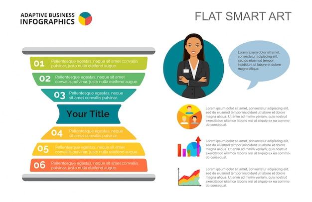 Szablon slajdów infografiki sandglass