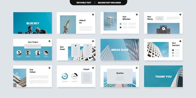 Szablon slajdów powerpoint w minimalnym stylu