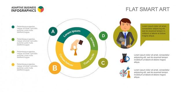 Szablon slajdu diagramu kołowego