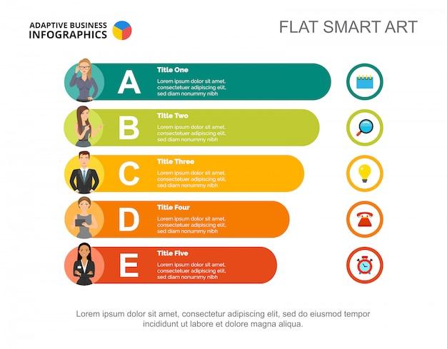 Szablon slajdu dla personelu firmy. dane biznesowe. wykres, wykres