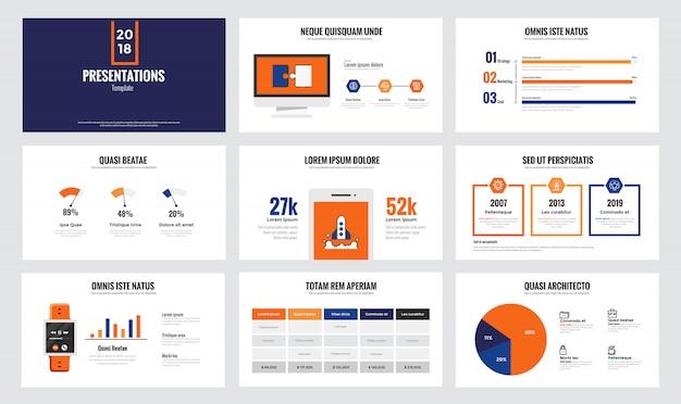 Szablon slajdu infografiki