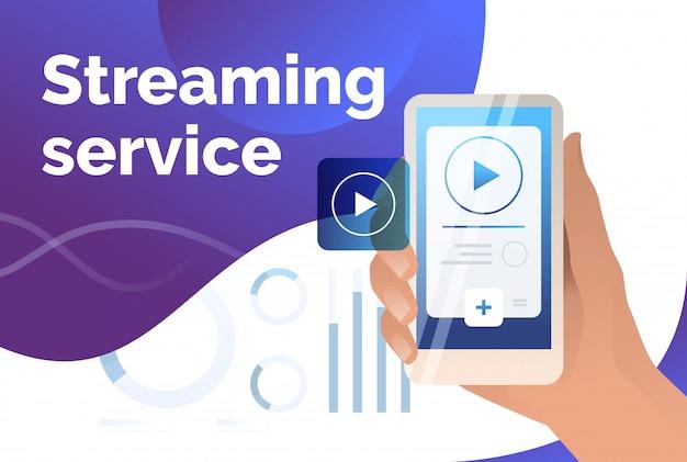 Szablon slajdu prezentacji usługi przesyłania strumieniowego