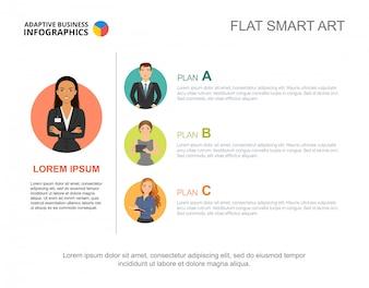 Szablon slajdu przywództwa. Wykres. Koncepcja kreatywnych infografika, raport.