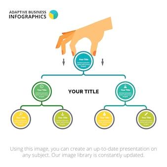 Szablon slajdu wykresu drzewa