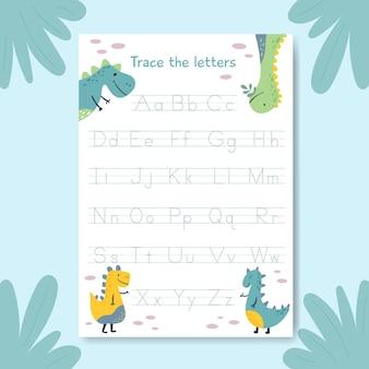 Szablon śledzenia alfabetu