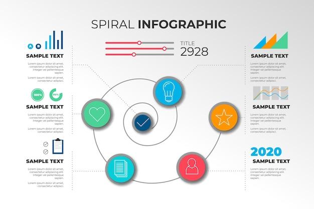 Szablon spirala infographic