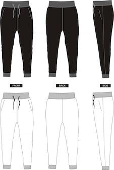 Szablon spodnie