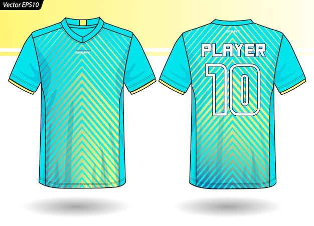 Szablon sportowy jersey dla mundurów drużynowych