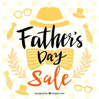 Szablon sprzedaży dzień ojca z elementami ubrania