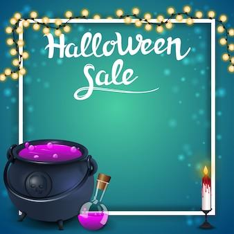 Szablon sprzedaży halloween na baner zniżki