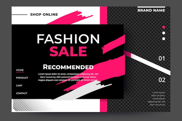 Szablon sprzedaży moda strona docelowa