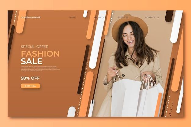 Szablon sprzedaży moda