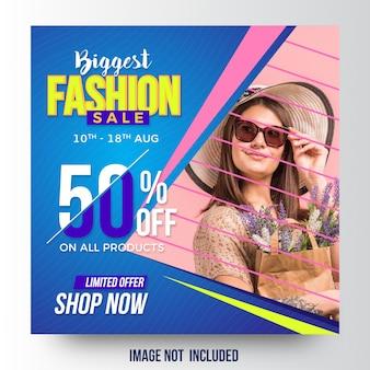 Szablon sprzedaży mody