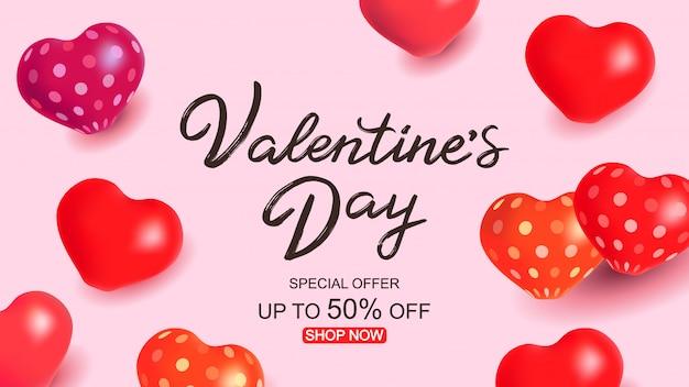 Szablon sprzedaży valentine's day