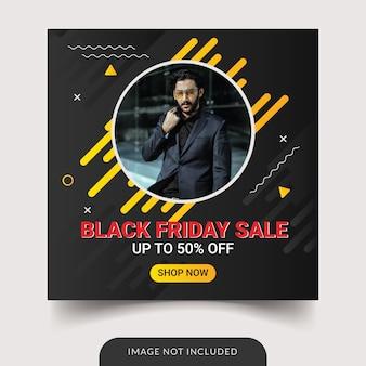 Szablon sprzedaży w czarny piątek na instagramie