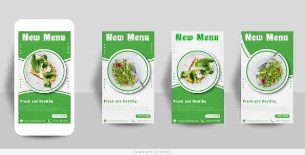 Szablon sprzedaży żywności instagram story