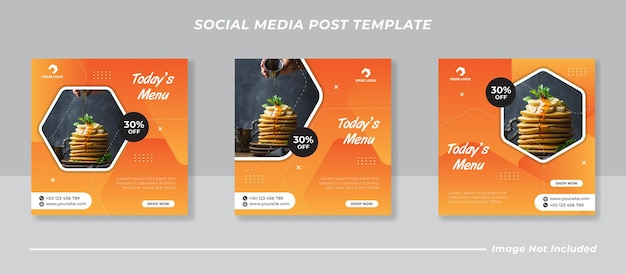 Szablon sprzedaży żywności w mediach społecznościowych