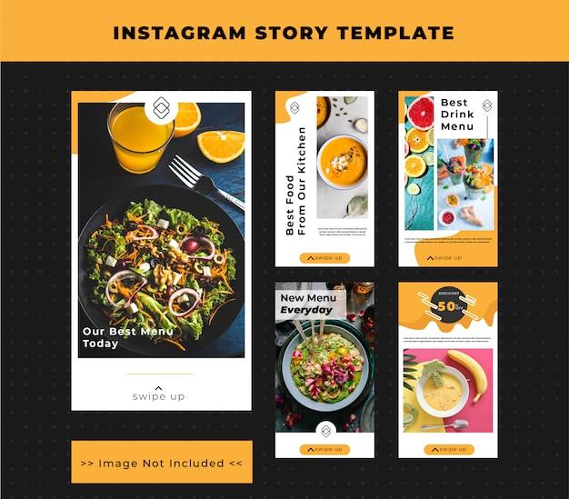 Szablon story na instagramie jedzenie i restauracja
