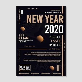 Szablon streszczenie nowy rok party ulotki