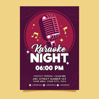 Szablon streszczenie szablon plakat karaoke