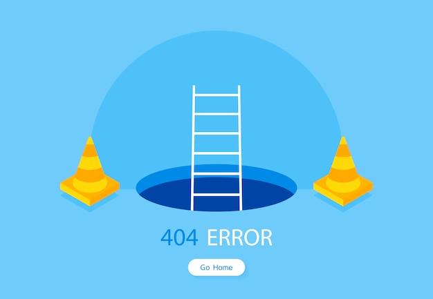 Szablon strony błędu 404 dla strony internetowej