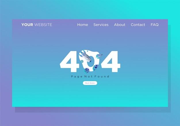 Szablon strony docelowej 404 erorr