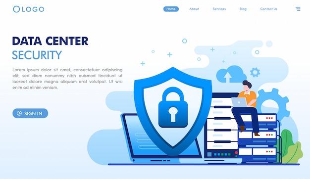Szablon strony docelowej bezpieczeństwa centrum danych