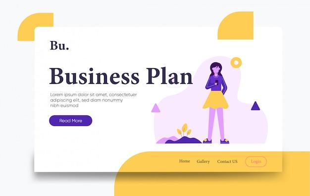 Szablon strony docelowej biznesplanu