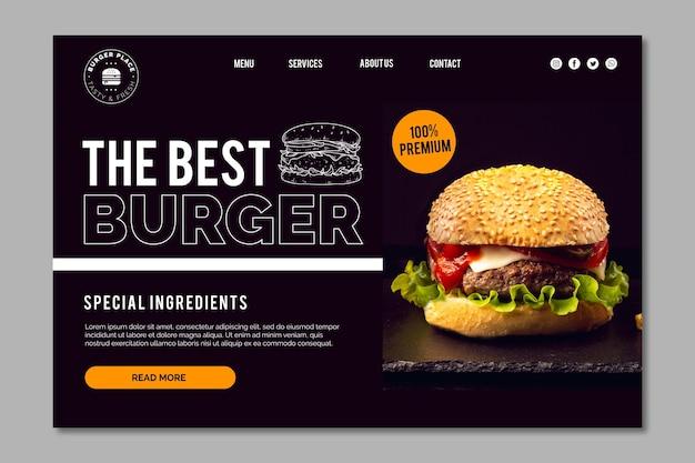 Szablon strony docelowej burger